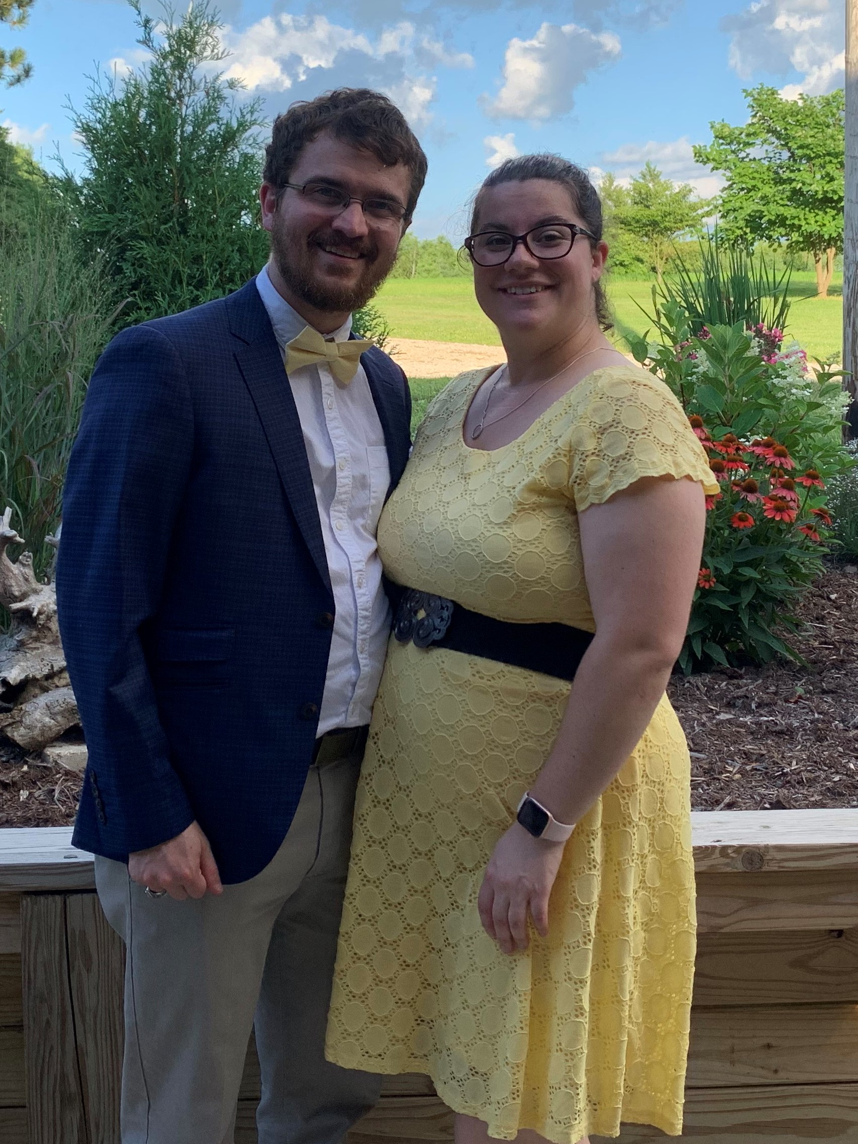 Wife and I at Family Wedding